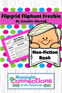 We all know kids need to read lots of non-fiction. Use this free NOn-Fiction Flipgrid Fliphunt to let kids show what they know about main ideas, details, vocabulary, and text features via video discussion.